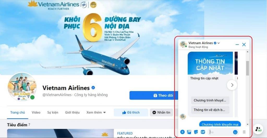 Facebook Marketing với chatbot