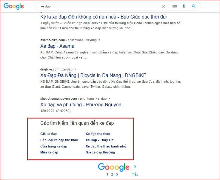 SEO google từ khóa chân trang