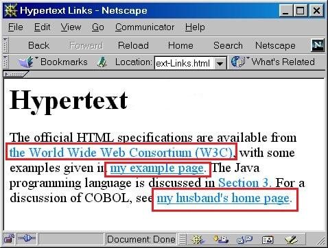 Ví dụ hypertext