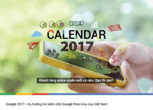 Xu hướng tìm kiếm trên Google tại Việt Nam 2017