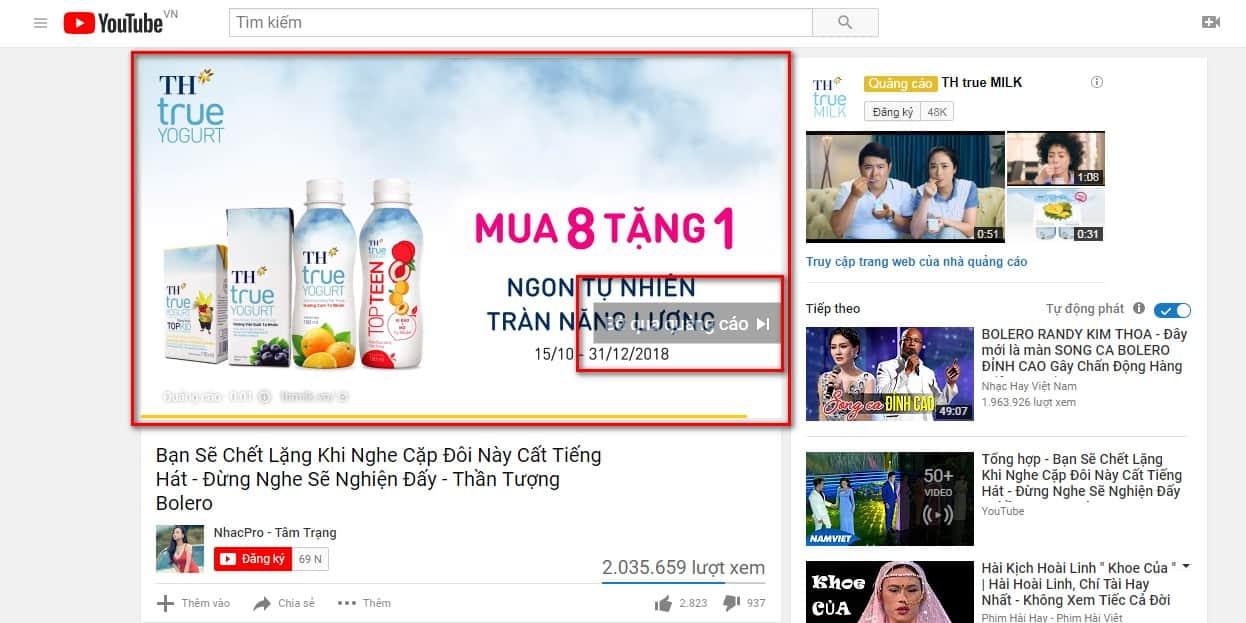 quảng cáo qua video