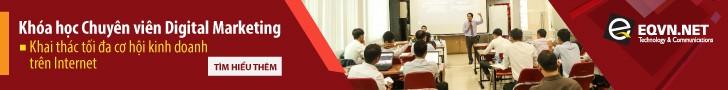 Banner giới thiệu khóa học chuyên viên Digital marketing trung tâm đào tạo EQVN