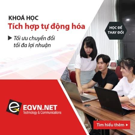 Khóa học triển khai tích hợp & tự động hóa tại eqvn