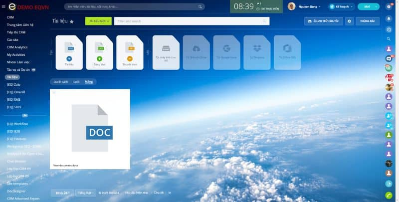 Công cụ biên soạn tài liệu trực tuyến với phần mềm bitrix24 crm