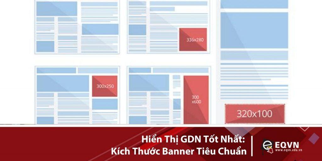 Hiển thị GDN tốt nhất kích thước banner tiêu chuẩn
